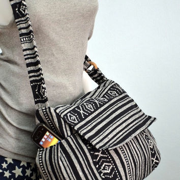 Nepali hippie style handbag, Cross body bag, Boho, Bohemian bag, Shoulder bag, Sling bag, Messenger bag, Purse MM102
