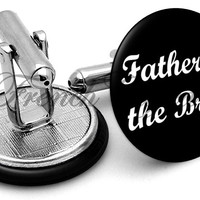 Design #6 Father Bride Wedding Cufflinks