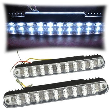 2PCS 20 L Car Daytime Running Lights Fog Lamp Bulb Super Bright Lighting  7_S (Color: White) = 1916223236