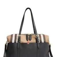Infant Burberry 'Mason - House Check' Diaper Bag