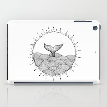 Whale in Waves iPad Case by Cinema4design