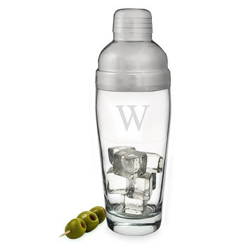 Personalized Glass Cocktail Shaker