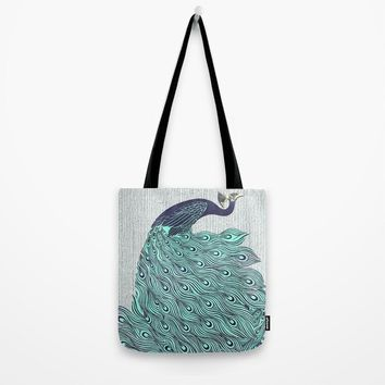 'A very, very peacock' Tote Bag by anipani