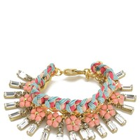 Gold Multi Stone And Charm Bracelet by Juicy Couture, O/S