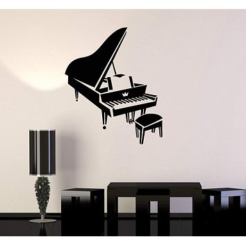 Vinyl Decal Piano Music Musical Instrument Art Wall Stickers Mural Unique Gift (ig2787)