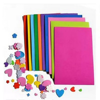 10pcs lot DIY Paper Sponge Foam Paper Fold Scrapbooking Paper Craft for kids Gift Mixed color