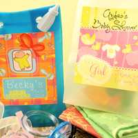 Rattles & Pacifiers Personalized Baby Shower Favor Bags, Baby Shower Favors, Party Favors, Candy Favors