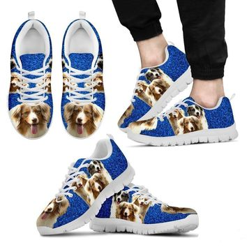 Customized Three Dog Print (Black/White) Running Shoes For Men-Free Shipping Limited Edition