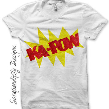 Comic Book Iron on Shirt PDF - Kapow Iron on Transfer / Infant Boys Clothes / Comic Book Shirt / Boys Shirt Design / Comic Printable IT114