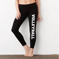 Vollyball Ladies' Cotton/Spandex Leggings
