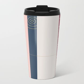 a few golden dots Metal Travel Mug by Ia Po