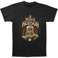 Willie Nelson Men's  Outlaw Country T-shirt Black Rockabilia