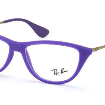 NEW Authentic Ray Ban RB 7042 5470 Matte Purple Cat-Eye RX Eyeglasses 54mm