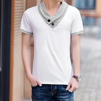 Men's Fashion High Collar T-Shirt