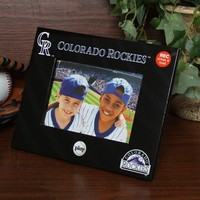 MLB Colorado Rockies 4'' x 6'' Black Talking Picture Frame