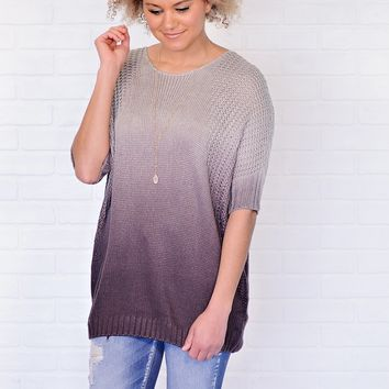 * Abba Ombre Dolman Sweater : Grey/Plum/Charcoal
