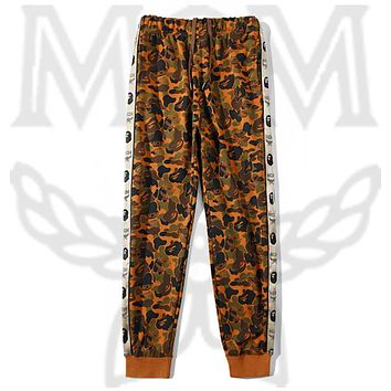 MCM X BAPE  Pants tide brand camouflage desert Sport Trousers brown
