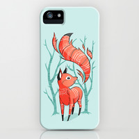 Winter Fox iPhone & iPod Case by Freeminds
