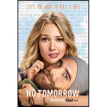 No Tomorrow Tv poster Metal Sign Wall Art 8inx12in