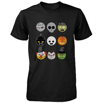 Halloween Monsters Men's Shirts Humorous Graphic Tees for Haunt Night