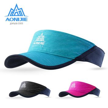 AONIJIE Women Men Outdoor Running Empty Top Hat Sport Marathon Visor Cap Ultralight Quick Dry Camping Hiking Anti UV Caps