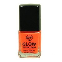 QT Glow In The Dark Neon Nail Lacquer Nail Polish Orange 0.5 Oz / 15ml Made In USA