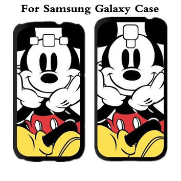 Mickey Mouse Protective Cover Case For Samsung Galaxy Note 2 3 4 5 S3 S4 S5 S6 S7 edge A J Series MINI Grand Prime Note edge