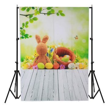 3x5ft Wood Floor Photography Background For Studio Photo Props vinyl Easter Eggs Photographic Backdrops cloth  1 x 1.5M