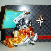 Christopher Radko Fest of Friends Dog & Cat Glass Ornament