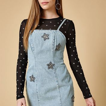 MinkPink Crystal Star Dress at PacSun.com