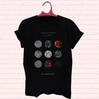 twenty one pilots blurryface black T-shirt