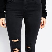 J Brand Alana High Rise Ankle Grazer Skinny Jean With Distressing