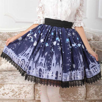 High Quality Castle And Starry Skirt