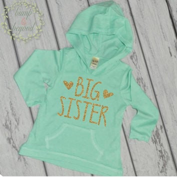 Big Sister Shirt Big Sister Announcement Sibling Big Sister Hoodie Little Sister Shirts Pregnancy Announcement Photo Prop 134