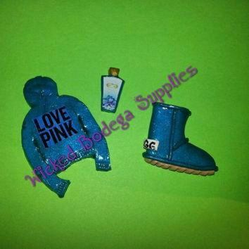 CREY1O Victoria Secret Love Pink Hoodie, UGG, Lotion Cabochon Set for DIY Projects