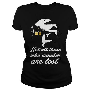 Whovian not all those who wander are lost shirt Premium Fitted Ladies Tee