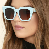 Perverse Rodeo Drive Light Blue Sunglasses