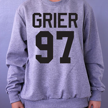 GRIER 97 Sweatshirt Sweater Crew neck Shirt Nash shirt screen on gray and white shirt– Size S M L XL