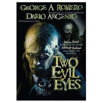 Two Evil Eyes Movie poster Metal Sign Wall Art 8in x 12in