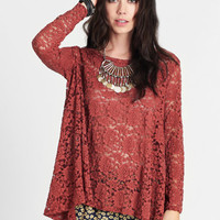 Bohemian Doll Lace Top - $39.00: ThreadSence, Women's Indie & Bohemian Clothing, Dresses, & Accessories