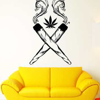 Vinyl Wall Decal Joint Cannabis cigarettes Hash Hippie Style Stickers Unique Gift (1957ig)