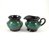 Vintage Blue Mountain Pottery Sugar and Creamer Set