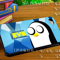 Adventure Time Gunter 3 For iphone 4 iphone 5 samsung galaxy s4 / s3 / s2 Case Or Cover Phone.