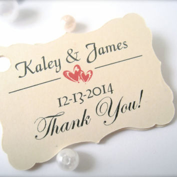 Thank you tags, favor tags, wedding favor tags, gift tags, party favor tags, customized tags, wedding decor - 30 count