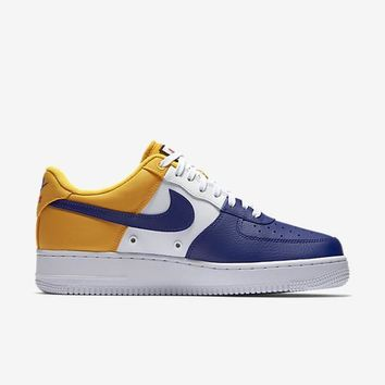 spbest NIKE AIR FORCE 1 07 LV8 - DEEP ROYAL BLUE/UNIVERSITY GOLD/UNIVERSITY RED/DEEP ROYAL BLUE