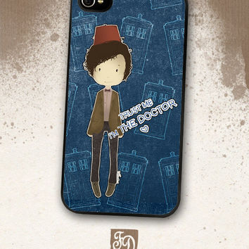 Iphone 4 / 4s hard or rubber case Doctor Who / TARDIS