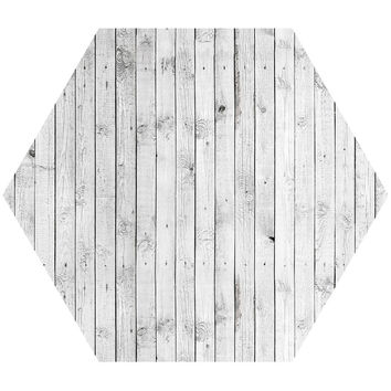 Wood IV Hex Wall Decal