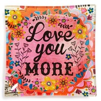 Natural Life 'Love You More' Glass Tray
