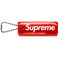 Supreme: Reflective Puffy Keychain - Red