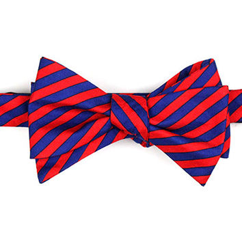 Navy/Red Stripe Bow